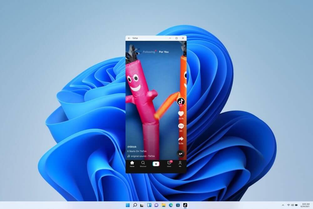 Windows 11でAndroidアプリを動作させているスクリーンショット