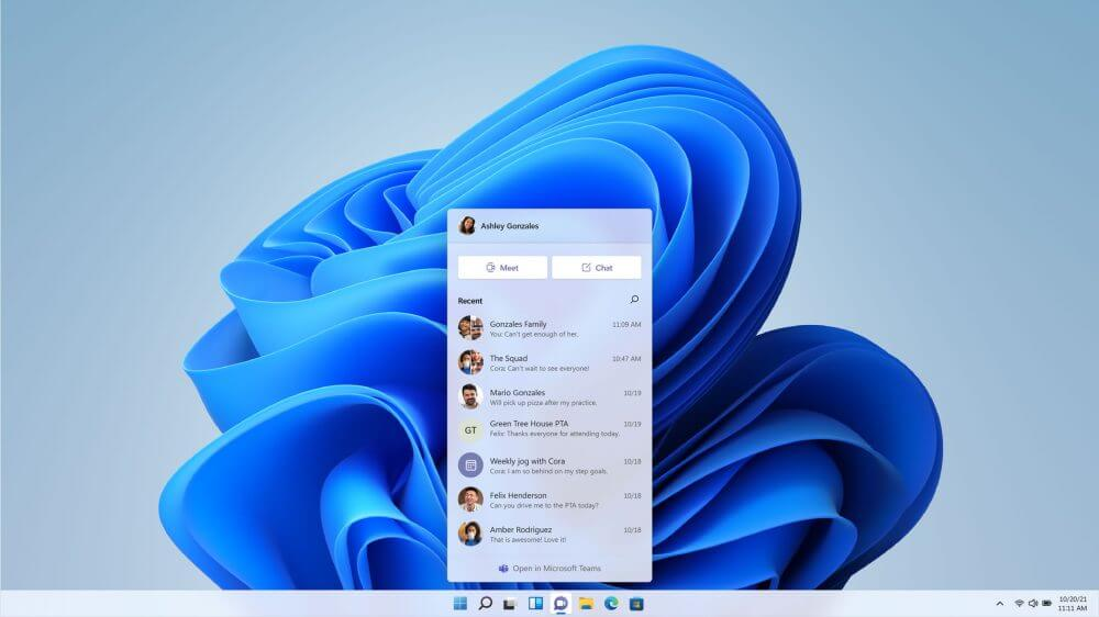 Windows 11に組み込まれたTeams